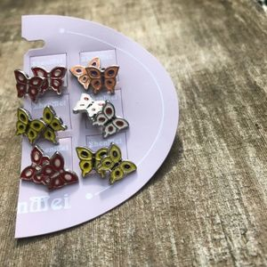 ❤️Multi Colored Butterfly Earring Set (NWT)